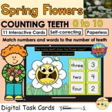 Counting 0 to 10 Flower Teeth Spring BOOM Cards™ Distance
