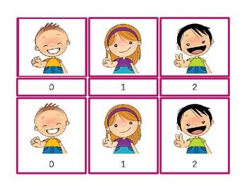 Counting 0 to 10 Montessori Three Part Vocabulary Cards