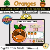 Counting 0 to 10 Oranges Teeth Fruit Tens Frame BOOM Cards