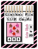 Counting 0 to 20 Cute Birds Clip Cards Math Center Printable ~ Spring Summer