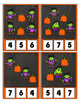Counting 0 to 20 Frankie Frankenstein Clip Cards Math Center Printable Halloween
