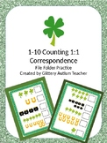 Counting 1:1 Correspondence St. Patty's Day File Folder