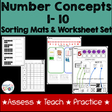 Counting 1-10 Assessment and Practice Activity Worksheet Set