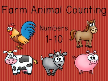 Counting 1-10 Animals on a Farm: English and Spanish