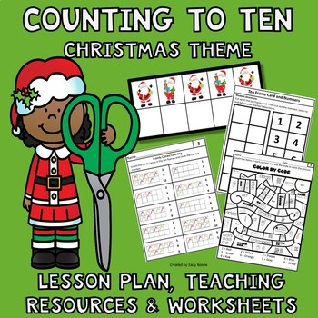 Counting 1-10  Christmas Theme - Lesson Plan, Resources & Worksheets