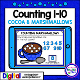 Counting 1-10 Cocoa and Marshmallows for Google Drive and
