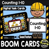 Counting 1-10: Construction Theme BOOM Cards FREEBIE