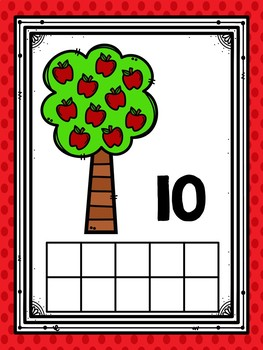 Counting 1-10 Counting Mats and Emergent Reader (Apple Themed)