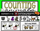 Counting 1-10 Cut and Paste