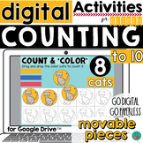 Counting 1-10 Digital Google Classroom Activity DISTANCE LEARNING