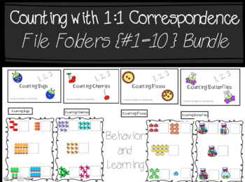 Counting 1-10 File Folder Bundle-for Students with Autism and Special Needs