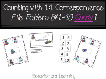 Counting Candy 1-10 File Folder- for Students with Autism or Special Needs