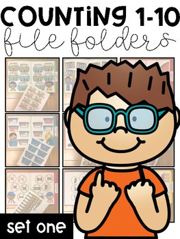 Counting 1-10 File Folders: Set One