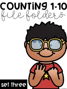 Counting 1-10 File Folders: Set Three
