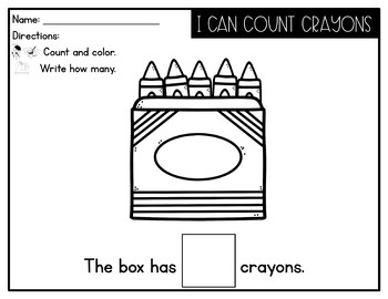 Counting 1-10 Flip Books