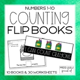 Counting 1-10 Flip Books & Worksheets
