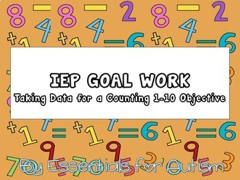 Counting 1-10 Flipbook to Collect IEP Data
