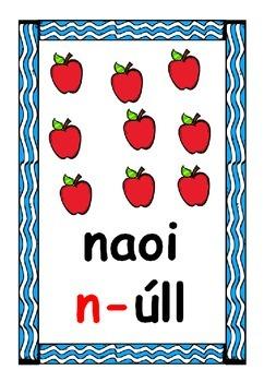 Counting 1-10 (Gaeilge Gútaí) vowels