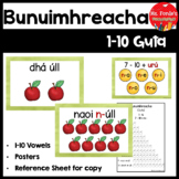 Counting 1-10 (Gaeilge Gutaí) vowels
