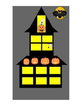 Halloween Spooky House.Counting 1 10 Halloween Spooky House Counting Mats