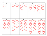 Counting 1-10 Hearts