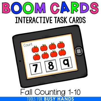 Counting 1-10 Interactive Digital Task Cards (Boom! Deck): Fall