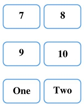 Counting 1-10 Match Game: Words, Numbers, and Pictures! (birds)