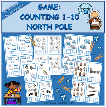 Counting 1-10 NORTH POLE / Contar 1-10 POLO NORTE
