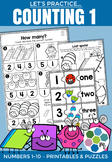 Counting 1-10 - Number Sense Practice Pages & Numbers Puzzles