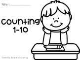 Counting 1-10 Print and Go Practice Pages-for students wit
