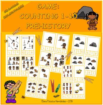 Counting 1-10 Prehistory / Contar 1-10 Prehistoria