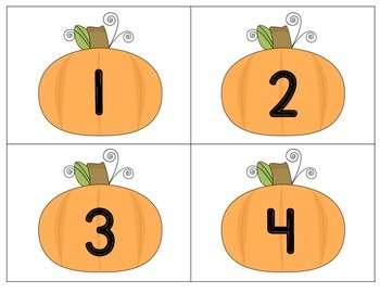Preschool Math: Counting 1-10 with Pumpkin Poems