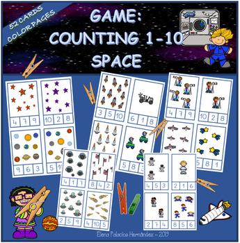 Counting 1 10 Space Contar 1 10 El Espacio By Elena Palacios Tpt