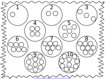 Counting 1-10 Snack Mat
