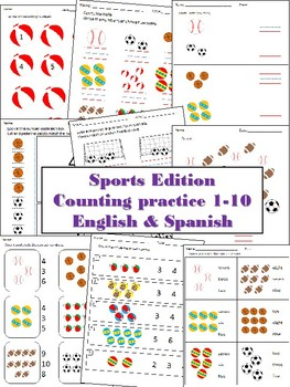 Counting 1-10 Sports Edition in English & Spanish