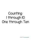 Counting 1-10 Winter