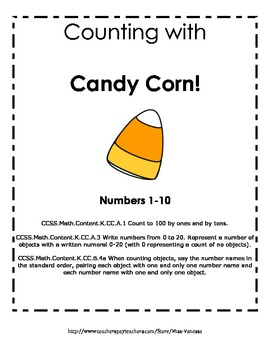 Counting 1-10 With Candy Corn! Common Core Aligned!
