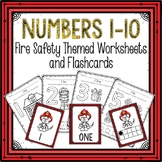 Counting 1-10 Worksheets and Flashcards Fire Safety Themed