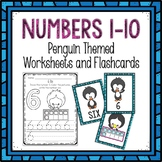 Counting 1-10 Worksheets and Flashcards Penguin Themed