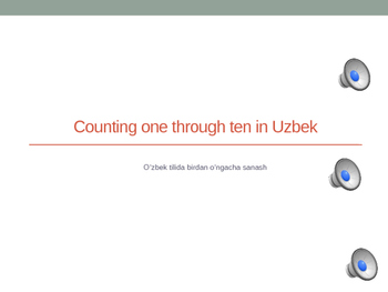 Counting 1-10 in Uzbek