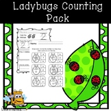 Ladybugs Counting Pack for Preschool, PreK, and Kindergarten