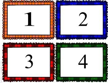 Counting 1-100 FLASH CARDS Pre-K - Kindergarten Color Black Line Task K.CC.A.1