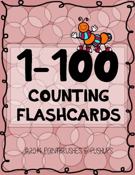 Counting 1-100 FLASH CARDS Pre-K - Kindergarten Color Blac