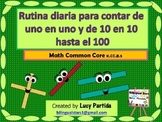 Spanish Counting 1-100 and 10s Bilingual Stars Mrs Partida