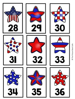 Number Cards 1-120-4th of July Themed