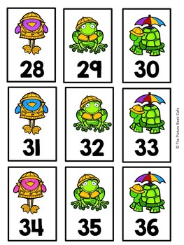 Number Cards 1-120-Rainy Day Themed