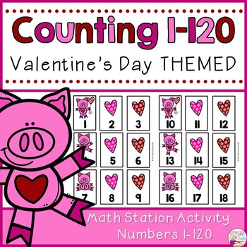 Number Cards 1-120-Valentine's Day Themed