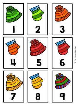 Number Cards 1-120 Winter Themed