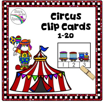 Counting 1-20 * Circus * Clip Cards Center