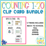 Counting 1-20 Clip Cards Bundle - Special Education